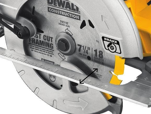 circular saw shoe distance