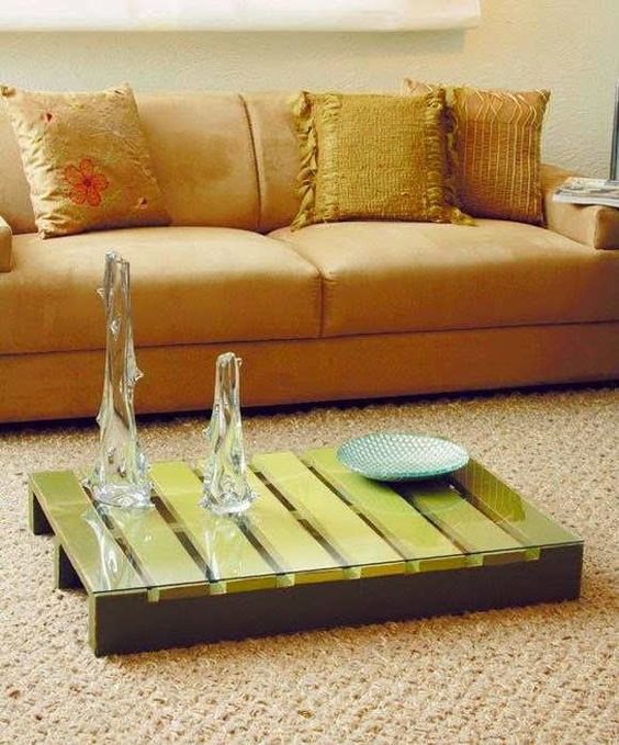A pallet Coffee table without feet