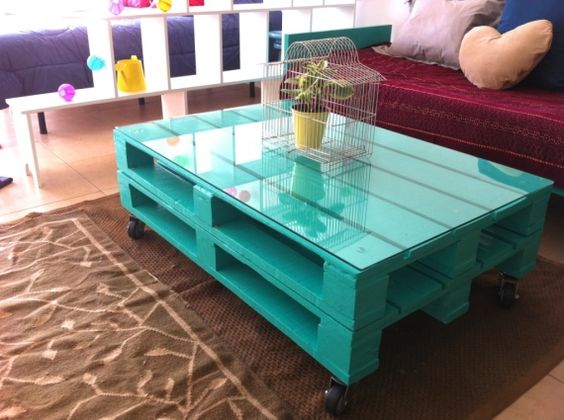 colorful palette coffee table