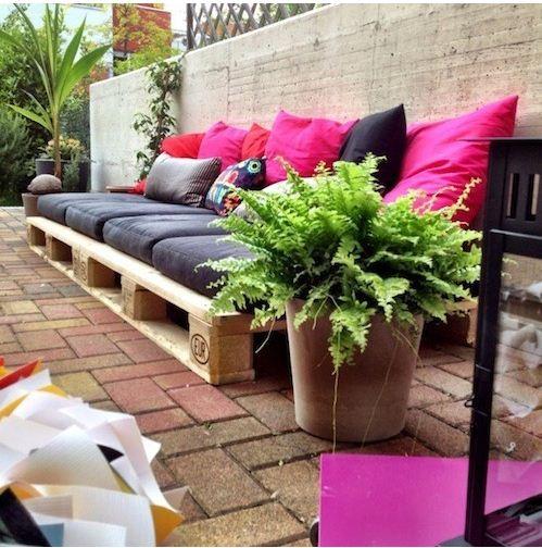 Pallet low sofa