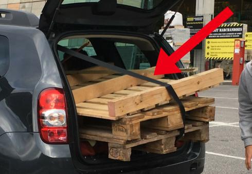 car trunk pallets