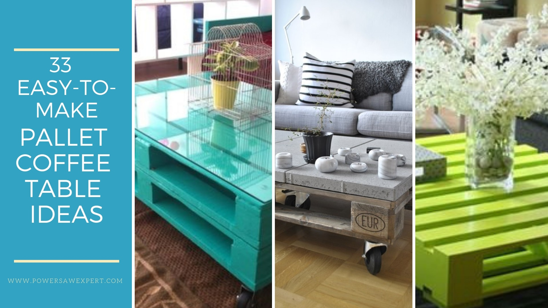 Industriel Table Basse Palette 33 inspirational ideas on how to make a coffee table with