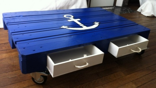 marine pallet coffee table