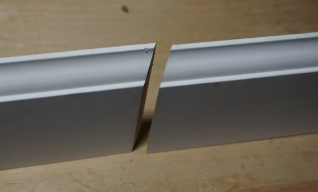 scarf joint in baseboard