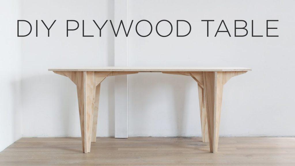 DIY PLYWOOD TABLE