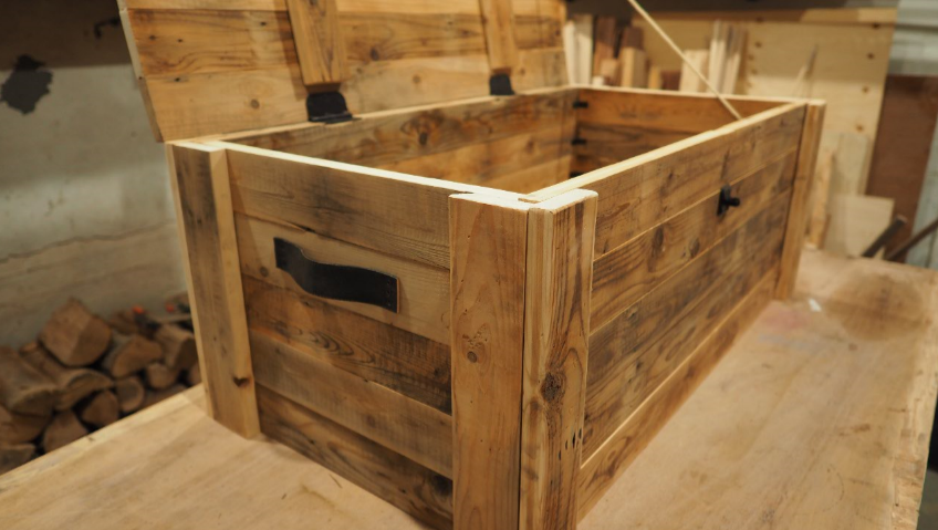 wood storage container